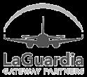 LaGuardia airport logo.